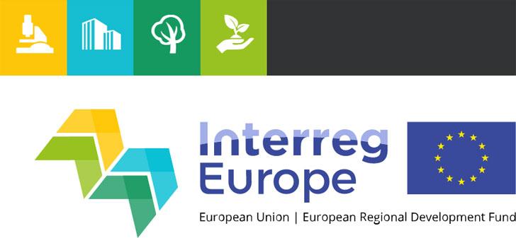 Captura de pantalla de Interreg Europe