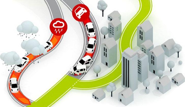 Mapa en el que pueden verse las incidencias del estado del tráfico