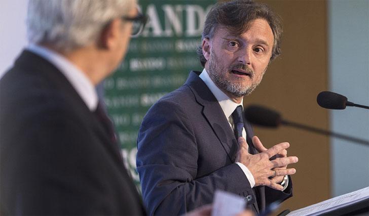 El consejero de Medio Ambiente de Andalucía durante su intervención