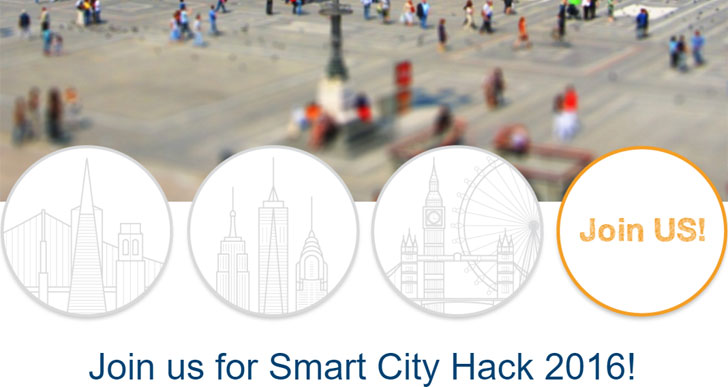 Captura de pantalla de la web del Smart City Hack