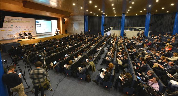 Auditorio durante la celebración del II Congreso Ciudades Inteligentes