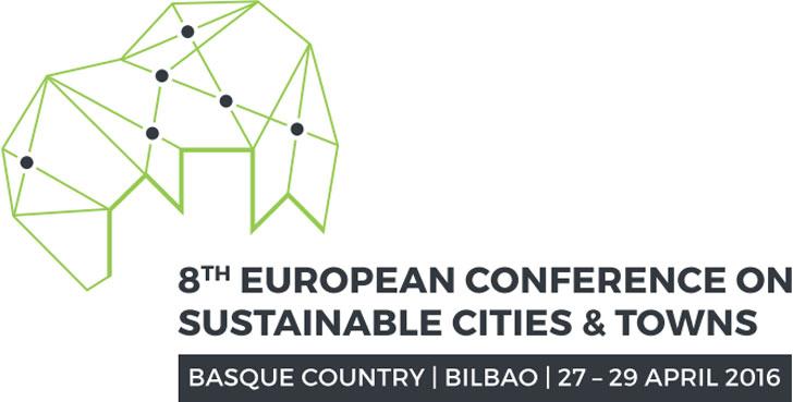 Logotipo de la 8ª Conferencia Europea de Ciudades y Pueblos Sostenibles