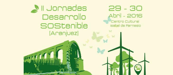 Logotipo para anunciar las las II Jornadas Desarrollo Sostenible