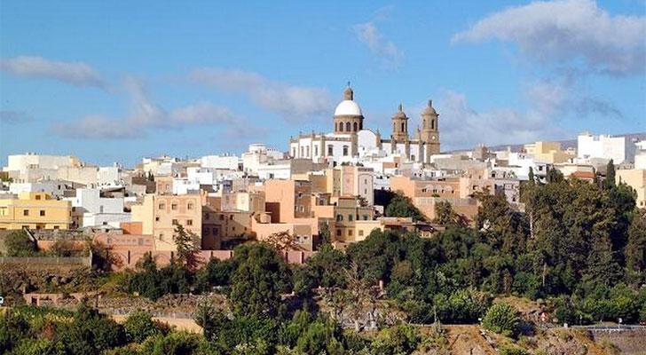 Vista del Municipio de Agüimes en Gran Canaria
