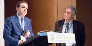 J. Delgado, Ayuntamiento de Madrid, y I. Niharra, IBM – II Congreso CI