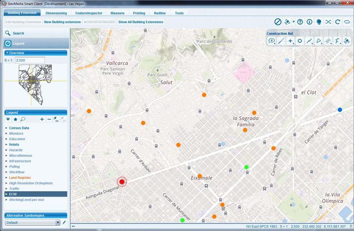 Captura de una aplicación tecnológica sobre gestión del territorio