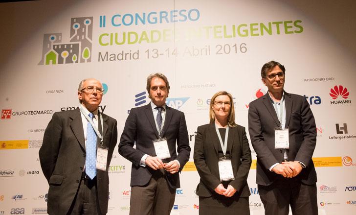 Encargados de clausurar el II Congreso Ciudades Inteligentes