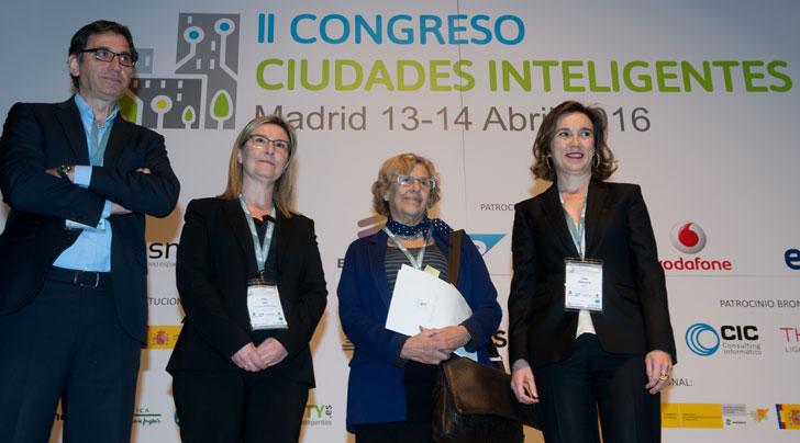 Encargados de llevar a cabo la inauguración del II Congreso Ciudades Inteligentes