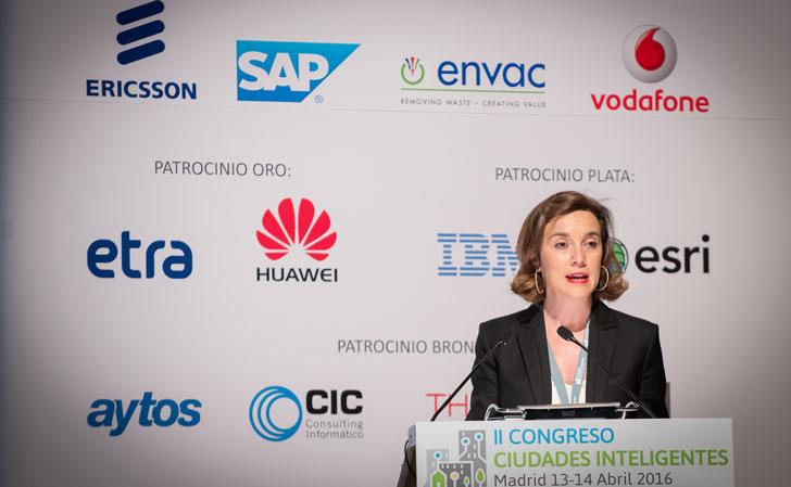 Cuca Gamarra, vicepresidenta de RECI y alcaldesa de Longroño