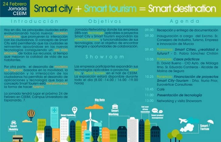 Folleto informativo del Foro Smart city+smart tourism=smart destination