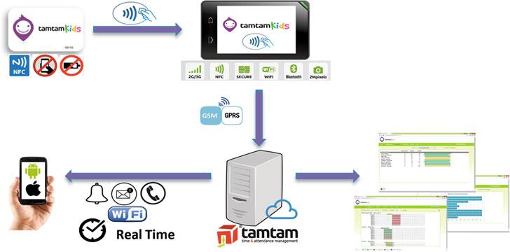 Modelo lógico de los componentes del servicio TamTam Kids