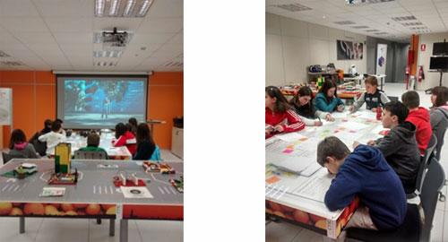 Alumnos y alumnas trabajando en sesión de Think Tank