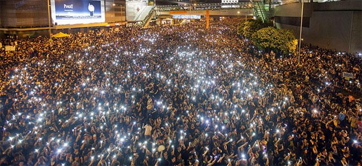 Protestas callejeras. Hong Kong 2014