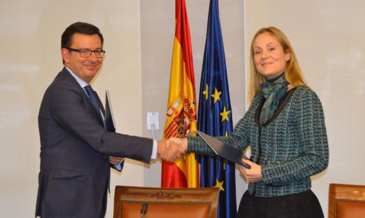 El vicepresidente del Banco Europeo de Inversiones y la presidenta del ICO