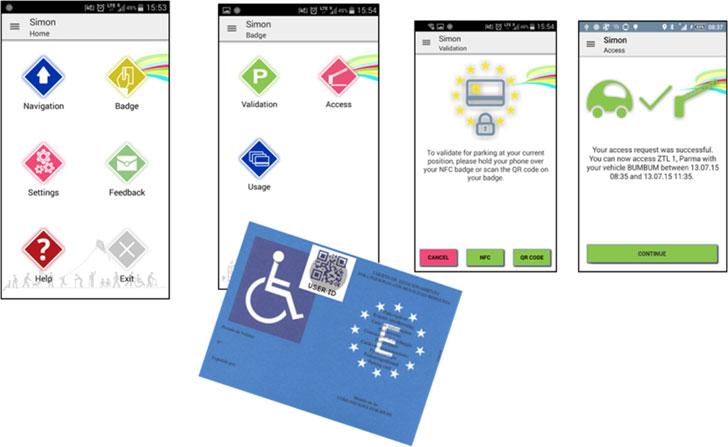 App SIMON Mobile. Funciones de validación de la tarjeta PMR