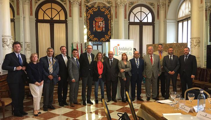 Delegación del Comité Económico y Social Europeo junto a autoridades españolas