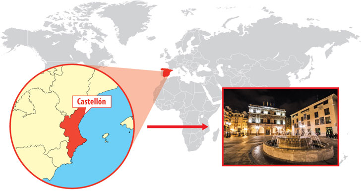 Mapa de situación de Castellón de la Plana