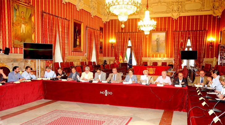 Reunión de la Mesa de Movilidad en el Ayuntamiento de Sevilla