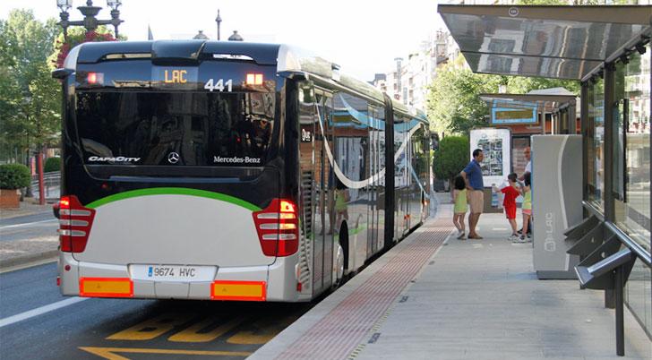ParaDA de autobús de Granada
