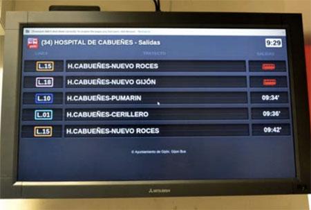 Entrada Hospital Cabueñes. Marquesina virtual
