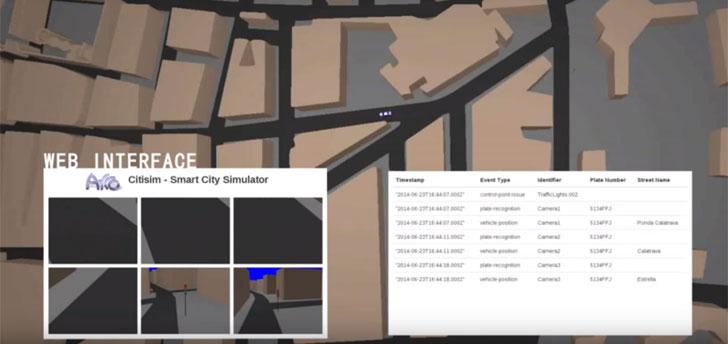 Representación en 3D de la actividad de una ciudad