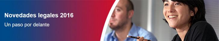 Llamamiento a la participación en la jornada sobre Novedades Legales 2016