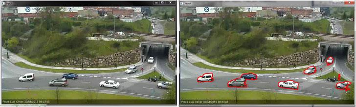 Ejemplos de seguimiento de dos vehículos