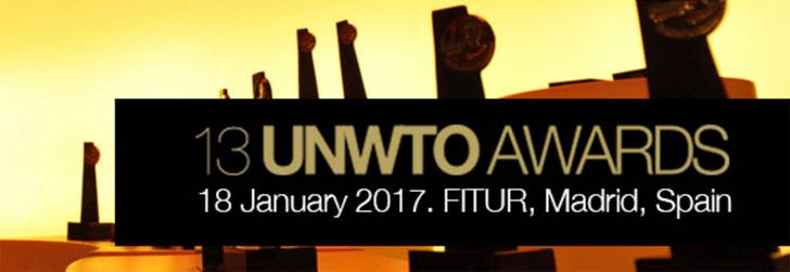 Convocatoria a la edición número 13 de los premios de la UNWTO