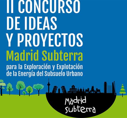 Cartel del II Concurso de Ideas y Proyectos para la Exploración y Explotación del Subsuelo Urbano