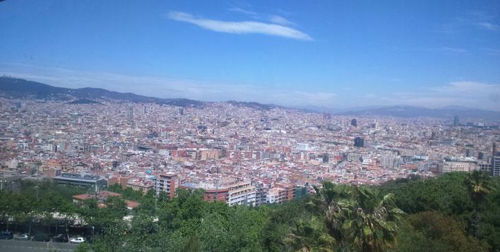 Vista general de la ciudad de Barcelona