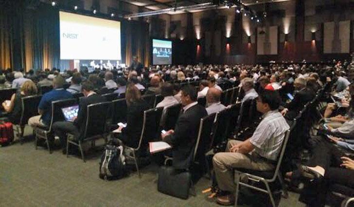 Auditorio del evento sobre ciudades inteligentes de Texas