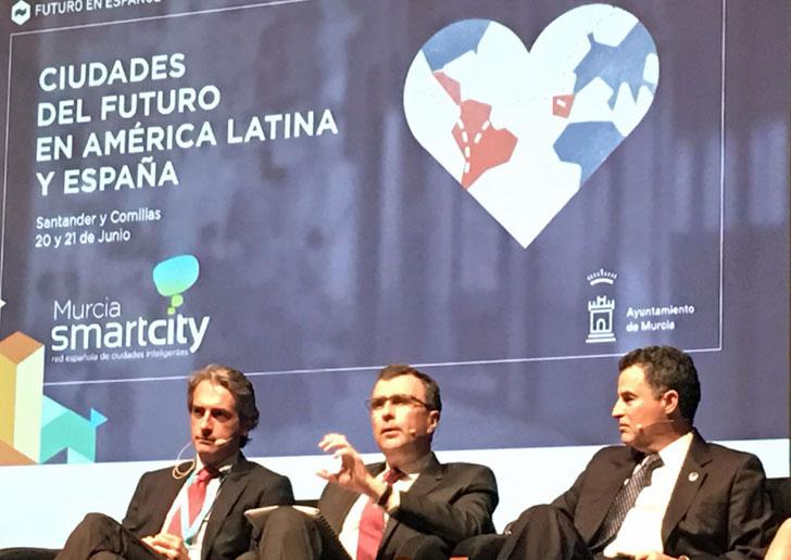 El alcalde de Murcia junto a su homólogo de Santander