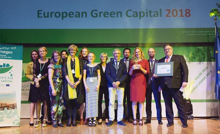 Ceremonia de entrega del galardón de Capital Verde Europea 2018 a Nimega (Holanda)