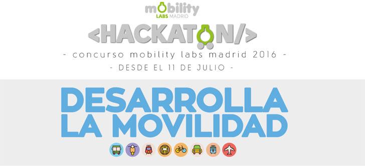Hackatón Mobility Labs Madrid 2016 para desarrollos a partir de datos abiertos
