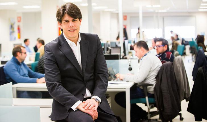 Javier M. Jiménez, Director Estrategia, Marketing y Comunicación Aytos en las oficinas centrales