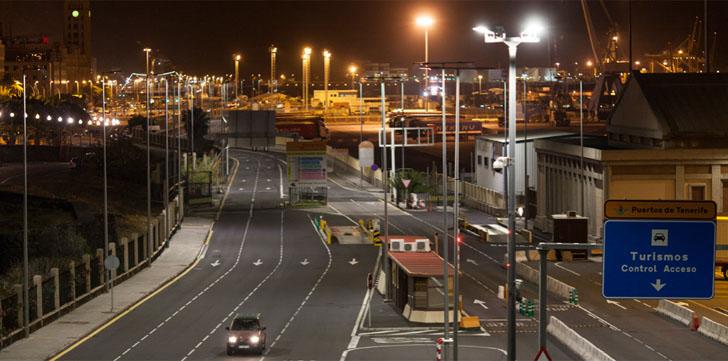 Gestión inteligente del alumbrado en puertos de la Comunidad Canaria. Acceso al Puerto de Tenerife