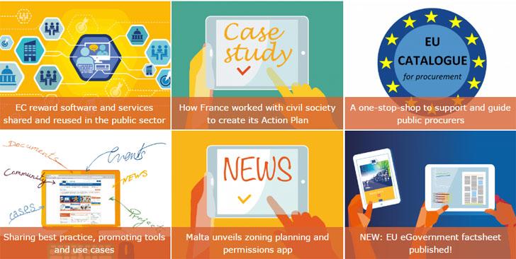 La Comisión Europea premia soluciones TIC reutilizables. Captura plataforma para compartir soluciones TIC