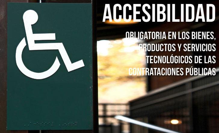 CENTAC reclama Accesibilidad obligatoria para la contratación pública. Cartel sobre Accesibilidad