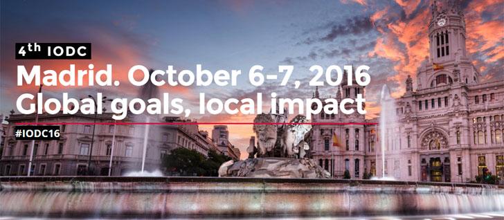 Madrid acogerá la 4ª Conferencia Internacional sobre Datos Abiertos (IODC16) bajo el lema 'Objetivos globales, impacto local'