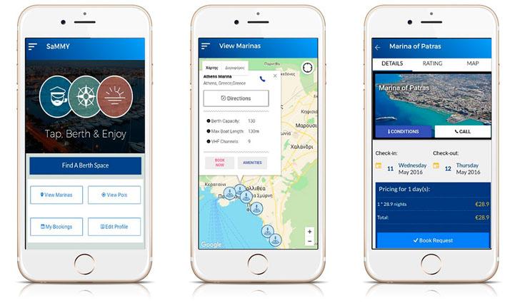 Una red inalámbrica de nodos para monitorizar la Marina de Patras. Aplicación para dispositivos móviles