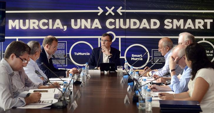 El proyecto de ciudad inteligente 'MiMurcia' comienza a andar. Reunión del Comité de Estrategia del Gobierno en Tecnologías de la Información