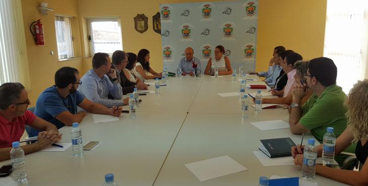 El municipio de Archena será piloto en el Plan de Administración Electrónica de la Región de Murcia. Reunión de la corporación municipal con el consejero de Hacienda