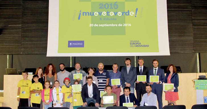El certámen 'Muévete Verde' de Madrid entrega sus premios a las mejores iniciativas en materia de movilidad urbana sostenible