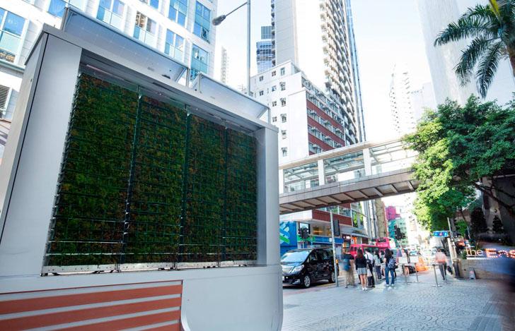 'Árboles urbanos' inteligentes para reducir la contaminación del aire. CityTree en Hong Kong