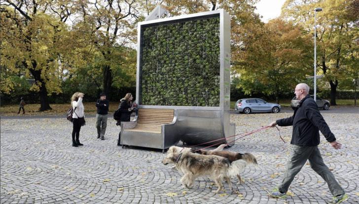 'Árboles urbanos' inteligentes para reducir la contaminación del aire. CityTree situado en Oslo