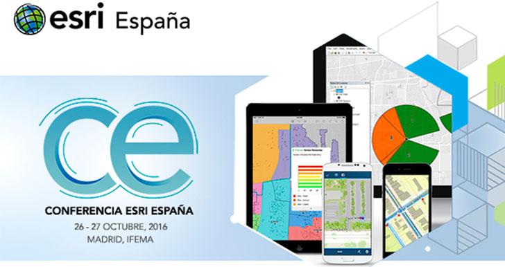 La Conferencia Esri España 2016 sobre tecnología GIS