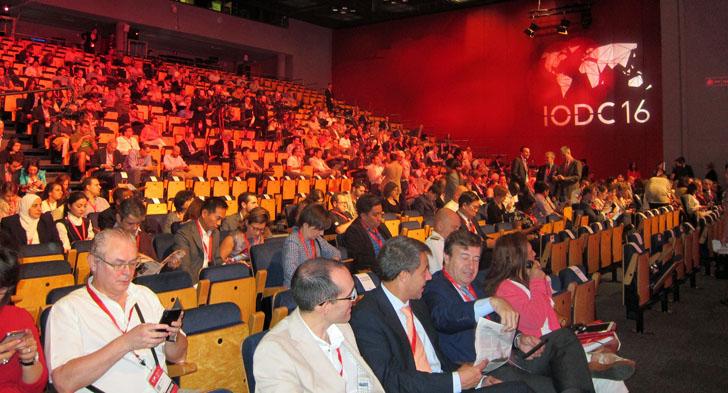 4ª Conferencia Internacional de Datos Abiertos en Madrid. Público en el auditorio