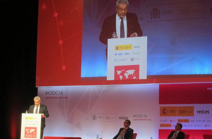 4ª Conferencia Mundial de Datos Abiertos IODC16. Víctor Calvo-Sotelo durante su intervención en Madrid