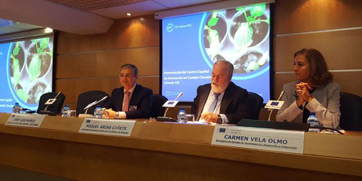 Presentación del Centro Español de Innovación en Cambio Climático en Madrid