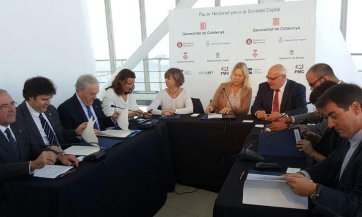 Firmantes del Pacto Nacional para la Sociedad Digital